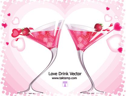 وکتور نوشیدنی عاشقانه