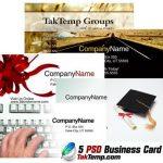 طرح اماده کارت ویزیت – 5PSD Business Card