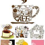 وکتور های زیبای قهوه -Vector cup of coffee