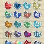 مجموعه آیکون های شبکه های اجتماعی اینبار به شکل برچسب
