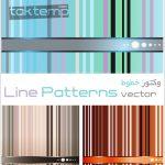 وکتور خطوط – Line Patterns Vector
