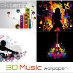 ۳۰ تصویر زمینه زیبا و باکیفیت موزیک