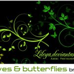 براش زیبای Leaves & butterflies