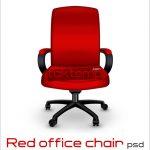 طرح لایه باز صندلی قرمز