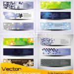 18 وکتور طرح زمینه بنر  – Vector Color Banners