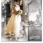 قاب عکس فانتزی عروس و داماد