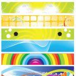 وکتور بنر تبلیغاتی Colorful Abstract Banners