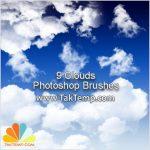 9 براش زیبای ابر Clouds Photoshop Brushes