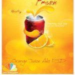 دانلود پوستر تبلیغاتی آب پرتقال – PSD Orange Soda Poster