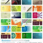 دانلود مجموعه کارت ویزیت تجاری Business Stylish Colorful Cards