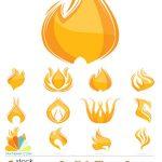 دانلود وکتور لوگو شعله Stylish Flame Logos Vector