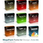 مجموعه فونت های مخصوص طراحان شامل 580 فونت گرافیکی