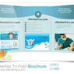 دانلود بروشور دندان پزشکی Dentist Tri Fold Brochure