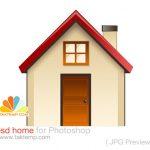 دانلود طرح لایه باز آیکون خانه (home)
