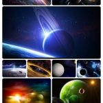 دانلود مجموعه تصاویر زمینه با موضوع کهکشان
