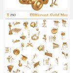 دانلود فایل لایه باز آدمک طلایی