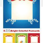 دانلود کارت پستال با رنگ های روشن