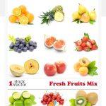 دانلود تصاویر استوک – مجموعه میوه های زیبا
