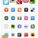 دانلود مجموعه آیکون های شبکه های اجتماعی