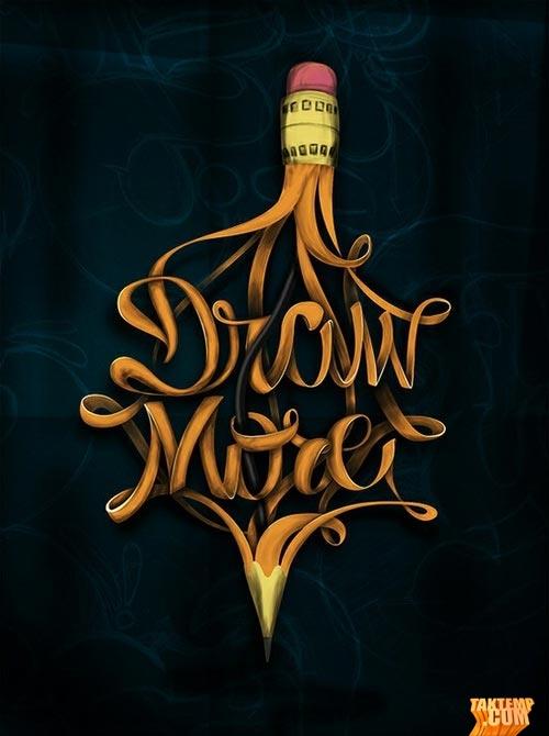 18-pencil-draw-best-typography-design