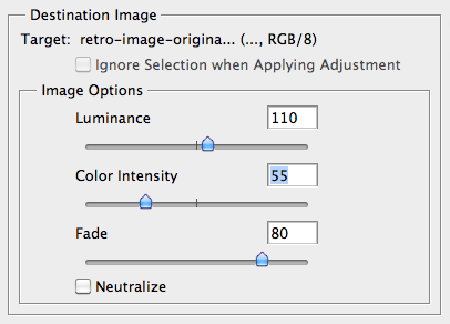 آموزش فوتوشاپ اثر Retro Color