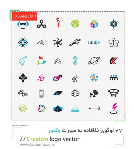 77creative logo vector