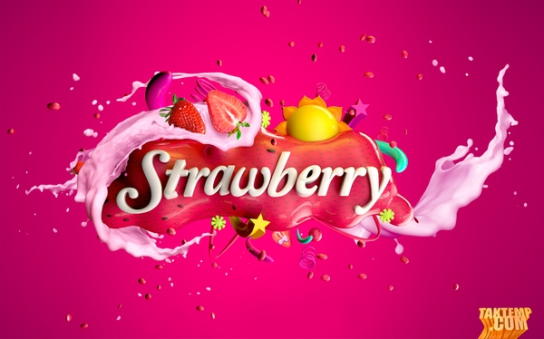 1-strawberry-milk-omar-aqil-typography-design